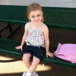 Madilyn's first day of pre-school!