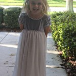 pretty gray princess dress